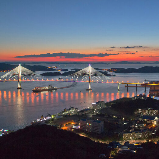 Sunset at Mokpo Bridge